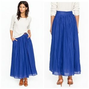 NWT J. Crew Pocketed Maxi Skirt